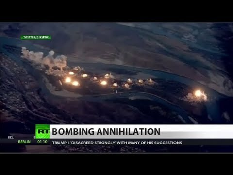 US drops 40 tons of bombs on 'ISIS' island