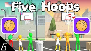 Five Hoops Gameplay - First Levels 1 - 20 (iOS - Android)