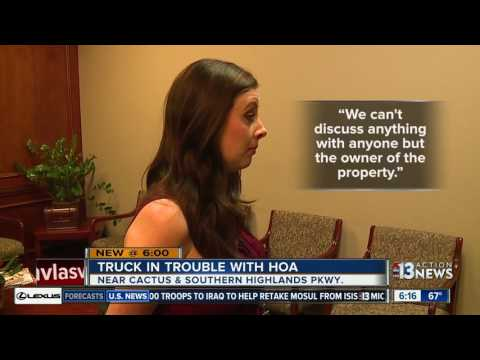 Homeowners Association Says Owner Can't Park Truck On Street