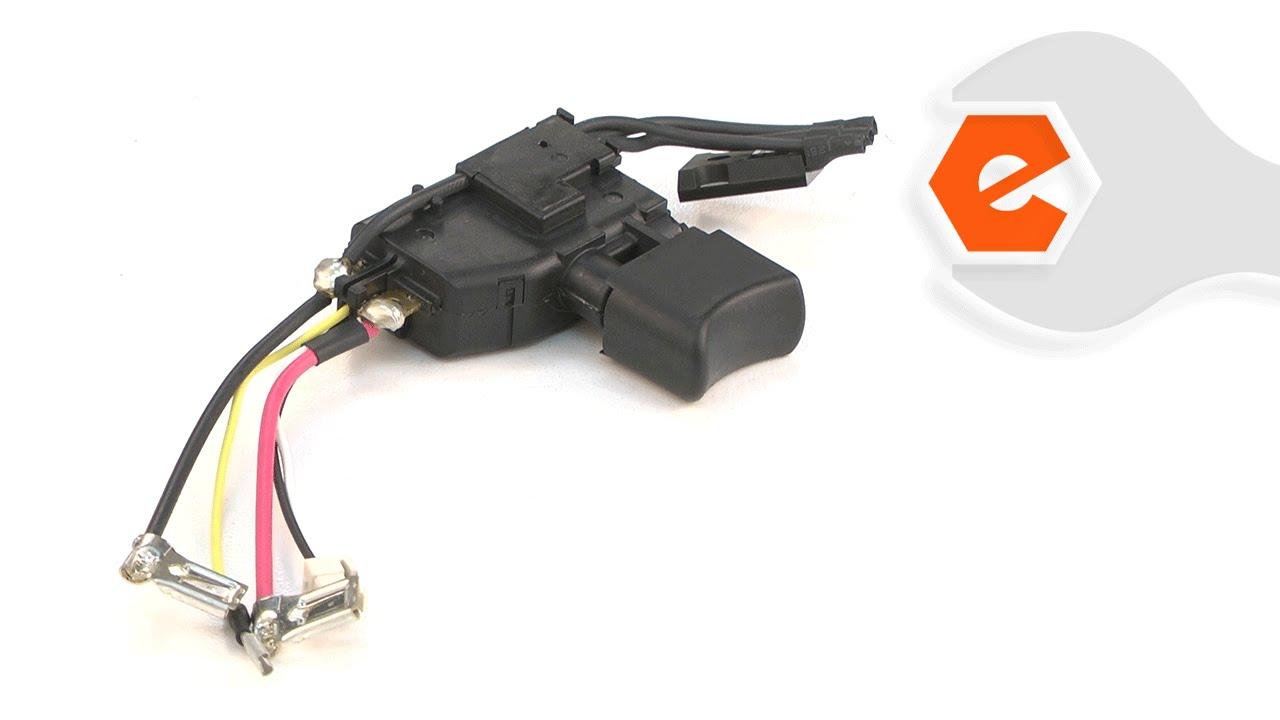 hammer drill repair replacing the switch makita part 650731 7 youtube [ 1280 x 720 Pixel ]