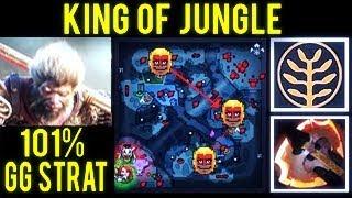 KING OF JUNGLE DOTA 2 WTF 1vs9 Game 101% FAST GG STRAT MONKEY KING 7.07 IMBA DOTA 2