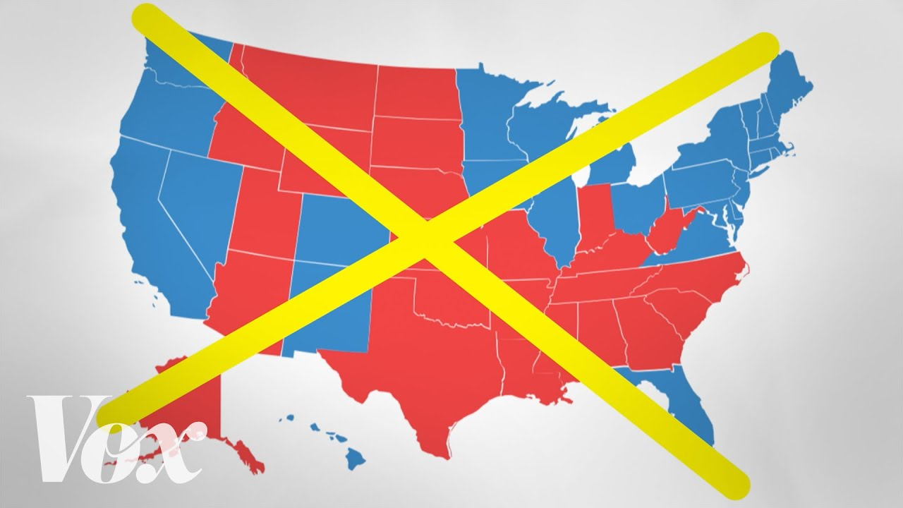 The Bad Map We See Every Presidential Election YouTube - Us map electoral to color