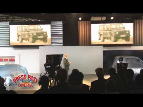 Jaguar - Land Rover Press Conference LA Auto Show