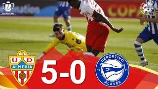 RESUMEN |UD Almería 5-0 Deportivo Alavés | Dieciseisavos de final de la Copa del Rey