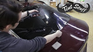 How to Shrink a Back Window | Pull Shrinking a Kia Optima Rear Windshield