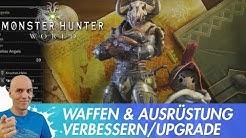 MONSTER HUNTER WORLD - Ausrüstung & Waffen verbessern (Deutsch/German Guide Anfänger)