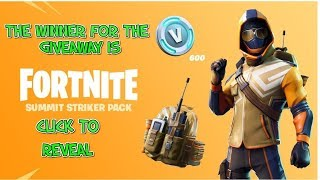 *NEW* FORTNITE STARTER PACK WINNER ANNOUNCED SUMMIT STRIKER PACK GIVEAWAY
