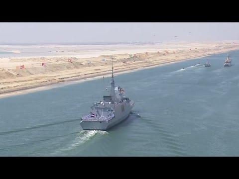 Inauguration de la nouvelle voie navigable du canal de Suez