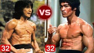 លី សៀវឡុង vs ឈិន ឡុង ចាប់ពីអាយុ (1 ដល់ 32 ឆ្នាំ) - Bruce Lee vs Jackie Chan Transformation