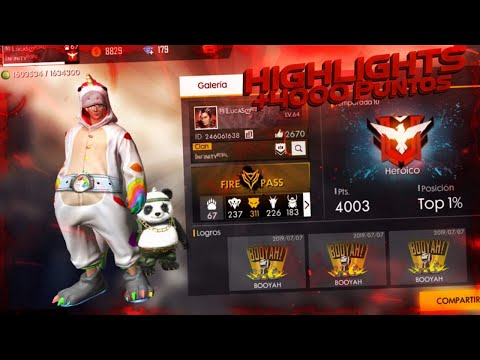 ASI LLEGUE A +4,000 PUNTOS FREE FIRE | HIGHLIGHTS HEROIC SEASON 10 | ElparceLucas!!