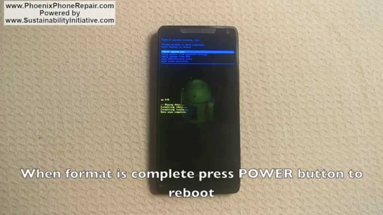 reset droid razr maxx to factory settings complete