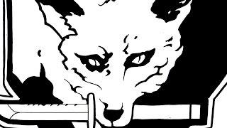 48 ] HOW TO DRAW FOX HOUND 'S EMBLEM ハイテク特殊部隊フォックスハウ...