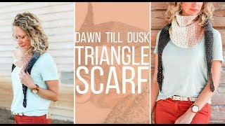 How to Crochet an Easy Triangle Scarf - Free Pattern!