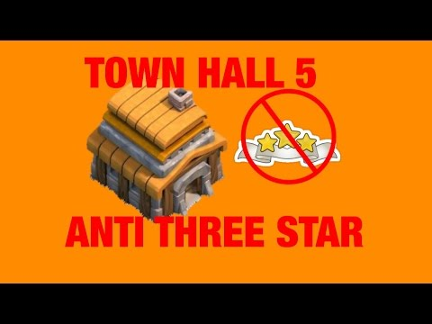 Clash of Clans - TOWN HALL 5 - ANTI 3 STAR WAR BASE - October 2015