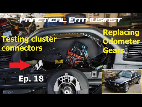 Project E30 / Ep. 18 / Testing For Power At Instrument Cluster & Odometer Gear Installation