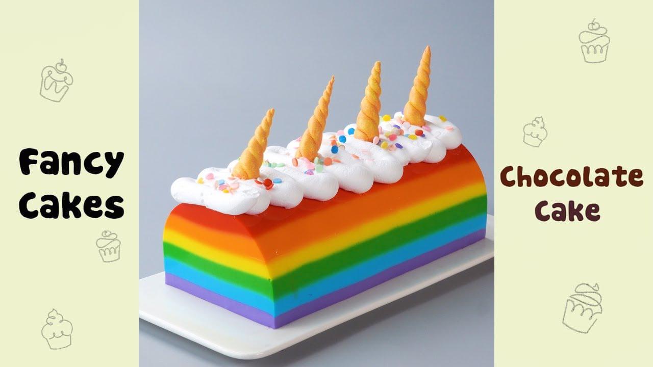 Rainbow Unicorn Jelly Decorating Idea #shorts