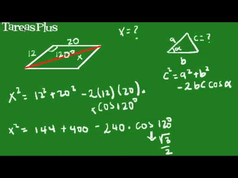 Aplicación teorema del coseno