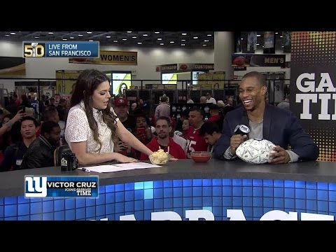 "Victor Cruz Imitates ""Manning Face"" with Katie Nolan"