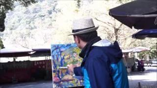 廖繼英 Jih-Yin Liao 「陽明山前山公園  Yangmingshan Park」 2017 油畫 15F 縮時攝影
