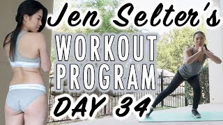 Day 34 of JEN SELTER Workout Program | Fitness & Weight Loss Transformation | Fitplan