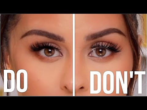 FALSE EYELASHES DO'S AND DONT'S
