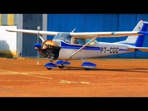 Avião Cessna 172 | Airplane | Aeroclube de Brasília | Teste motor | PT-CGG