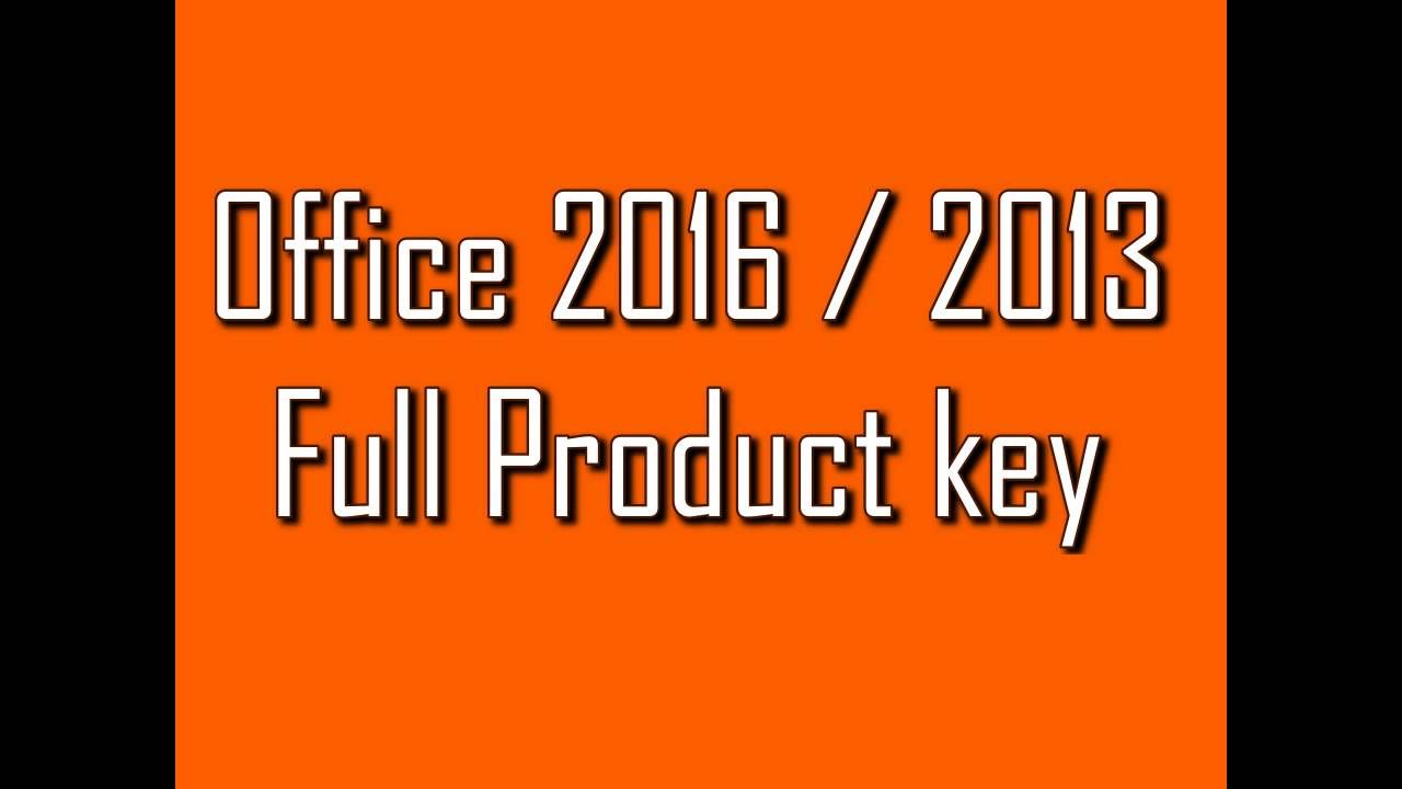 Microsoft Office 2016 Product-Key
