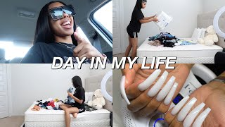 A DAY IN MY LIFE  VLOG  Ft. Nadula Hair | (Drive W/ ME, Cleaning, & Nails)