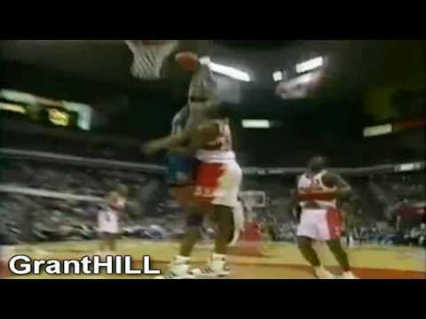 Grant Hill dunks on Dikembe Mutombo (1997 Playoffs)