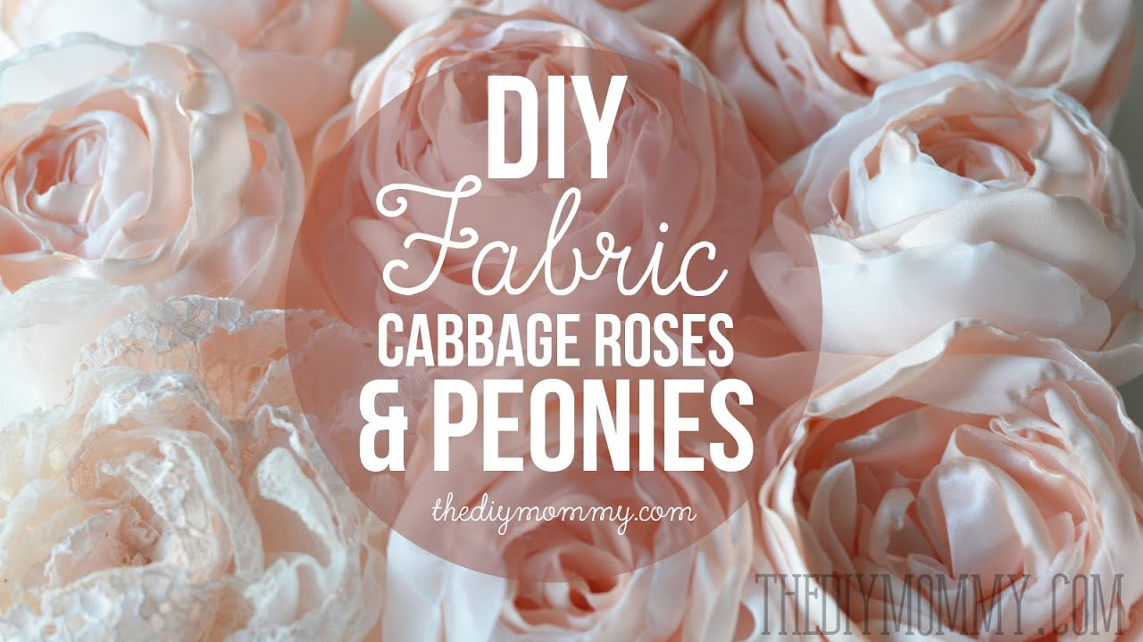 How to Make Realistic DIY Fabric Roses and Peony Flowers - YouTube