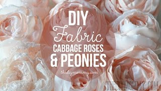 One of The DIY Mommy's most viewed videos: How to Make Realistic DIY Fabric Roses and Peony Flowers
