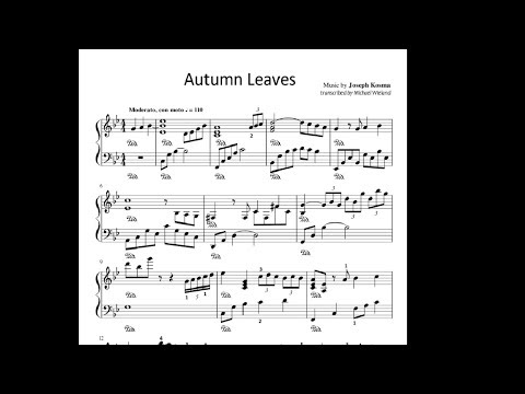 Autumn Leaves | Piano Solo (Free sheet music)