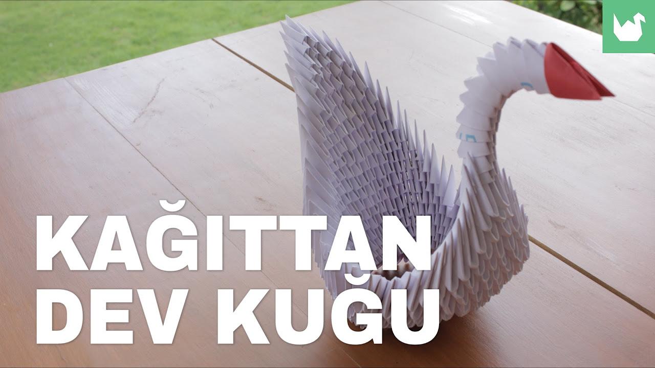 Kolayca origami yapmayı öğrenin: Kağıttan Dev Kuğu Yapımı