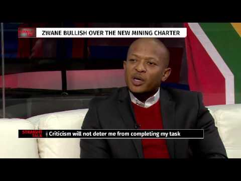 Straight with Talk Sifiso Mahlangu: Mineral Resources Minister, Mosebenzi Zwane