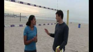 Beach Volleyball Court Vision Drill