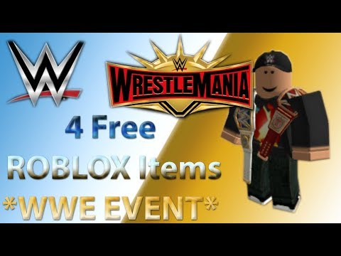 549a5cb7f2d 4 FREE ROBLOX HATS  WWE   WRESTLEMANIA EVENT ROBLOX  2019 - YouTube