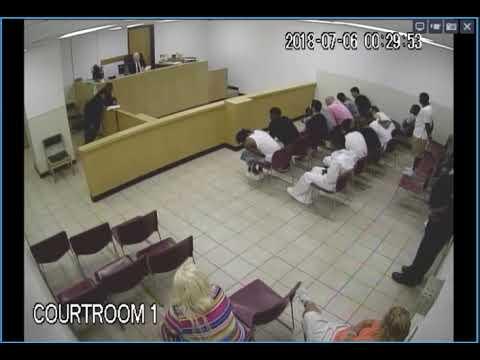 Bail hearing at Dallas County jail on July 6 (video 2)