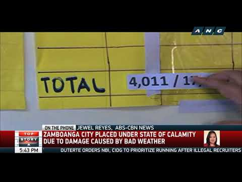 Battered by floods, strong winds, Zamboanga City placed under state of calamity