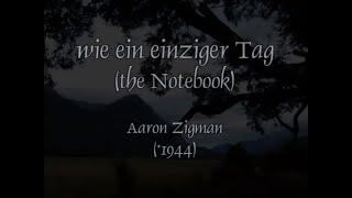 wie ein einziger Tag - Aaron Zigman, played by Malino (Piano)
