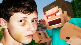 GETTING BEAT UP IN MINECRAFT! (Minecraft Voice Trolling)