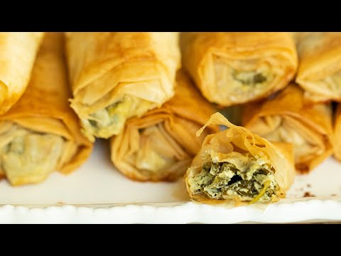 Spanakopita Rolls: ​Greek Spinach With Feta Phyllo Rolls For Thanksgiving