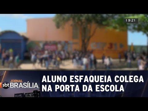 Aluno esfaqueia colega por causa de garota | Jornal SBT Brasília 24/08/2018