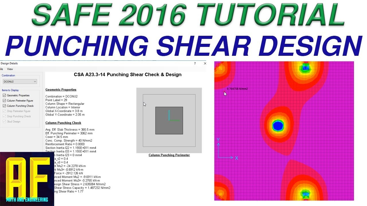 Punching Shear SAFE 2016 Tutorial - Example and Practical