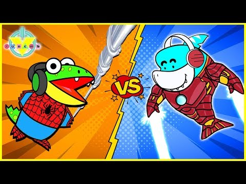 Roblox Superhero Tycoon Lets Play with VTubers IRON Gil Vs SPIDER Gus