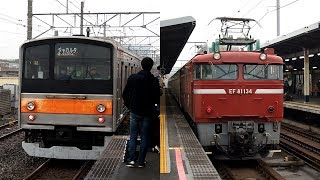 2020/02/26 【譲渡配給・甲種輸送・陸送】 205系 M2編成 EF81 134 新習志野駅 & 蘇我駅 | JR East: 205 Series M2 Set to Jakarta