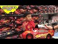 Disney Cars 3 Shopping at Toys R Us - Big Lightning Mcqueen, Jackson Storm, Cruz Ramirez Cars 3 Toys