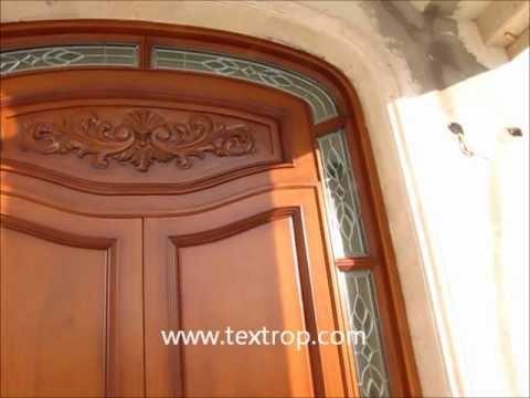 puerta de madera en monterrey by textrop