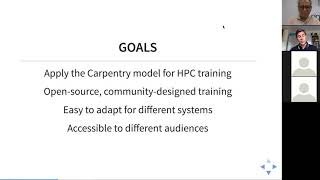SIGHPC Webinar: HPC Carpentry