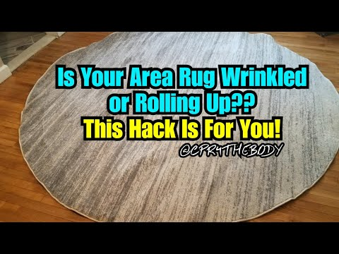 How To Get Your New Area Rugs To Lay Flat..Frugal Hack (REQUESTED)