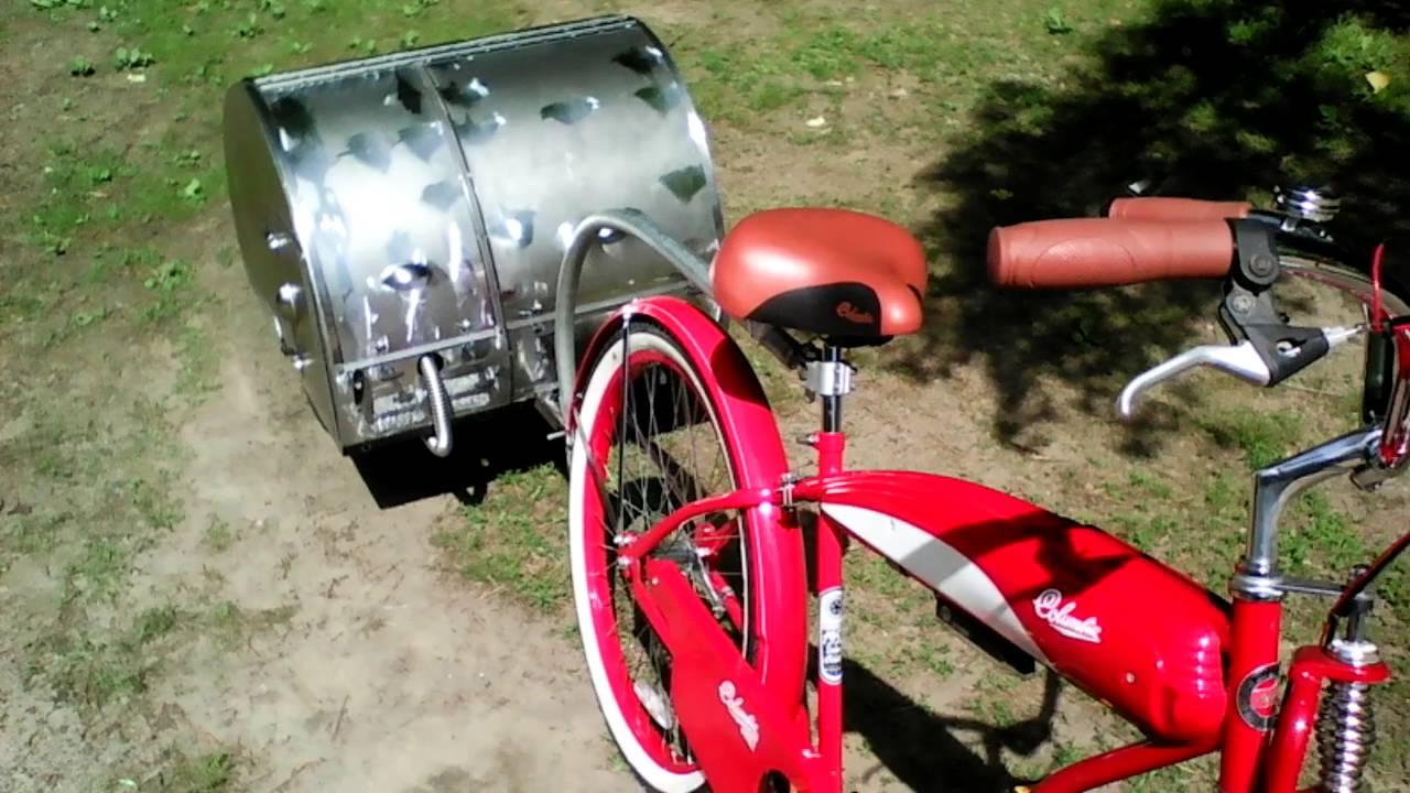 Motorized Teardrop Bicycle Trailer Part 3 Youtube